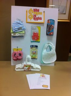 Price is right game for baby shower.