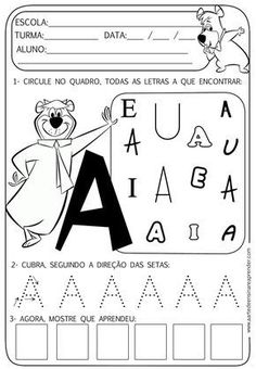 Alphabet Tracing Worksheets, Printable Alphabet Letters, Preschool Letters, Preschool Worksheets, Portuguese Lessons, Learn Portuguese, Teaching The Alphabet, Kids Study, Lower Case Letters