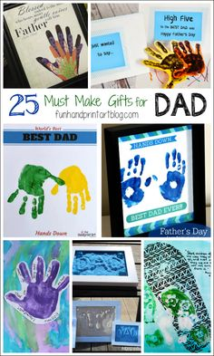 25 Must Make Gifts for Father's Day using Handprints & Footprints