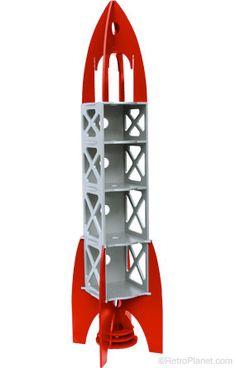Retro Rocket Ship Storage Space