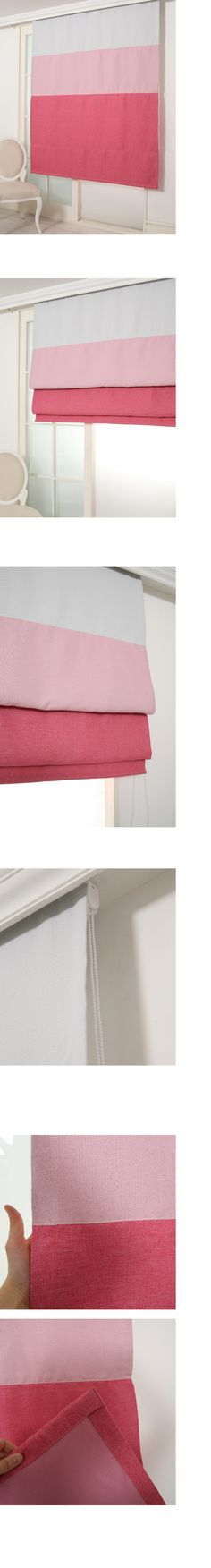 메이크룸 [린넨터치 암막 로만쉐이드(pink)]