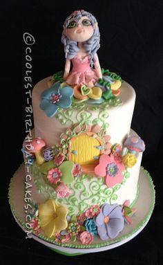 Coolest Fairyland Fantasy Cake... a beautifully detailed homemade cake idea.