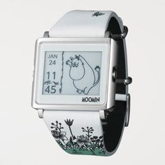 "New EPSON Smart Canvas WOW matrix EPD Digital Watch ""MOOMIN"" from Japan F/S EMS #EPSON"