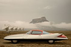1955 Ghia Gilda Streamline X Coupé Concept Car - Sci-Fi version