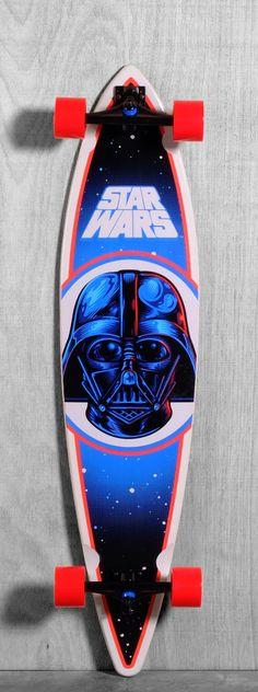 "Santa Cruz 43.5"" Star Wars Darth Vader Longboard Complete"