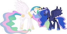 Celestia and Luna Touching Horns by =90Sigma on deviantART