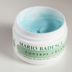 Mario Badescu Control Cream: This stuff is like a little miracle worker. It helps get rid of blemishes and rosacea. I've been using it for two weeks and it cleared up my skin in no time without drying it out. Highly recommend this and all Mario Badescu products. His gel enzyme cleanser is fantastic, too.~Cayce