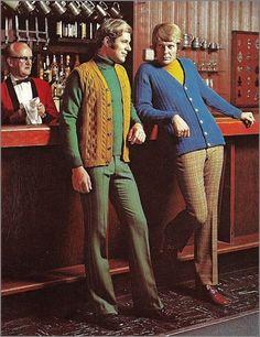 1970s? Men's vest and sweater. | drew's grooveland : Photo