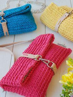 Crochet Clutch Pattern, Crochet Clutch Bags, Crochet Wallet, Crochet Pouch, Crochet Handbags, Crochet Purses, Crochet Stitches, Knit Crochet, Crochet Patterns
