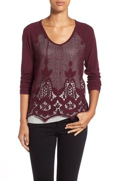 Free shipping and returns on Wit & Wisdom Layered Look Lace Knit Top at Nordstrom.com. With a jersey-knit liner that looks like a tee underneath, Wit & Wisdom had done the layering for you with this crochet lace top. The all-in-one piece is styled with a wide V-neckline, solid-knit raglan sleeves andpretty scalloped hem.