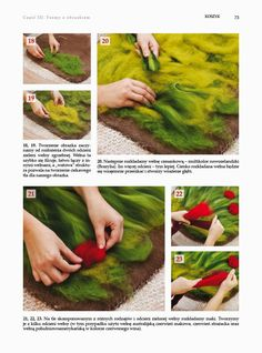 Wet felting bags with poppies