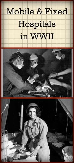 A closer look at US Army hospitals in WWII - both mobile hospitals and fixed hospitals. On Sarah Sundin's blog.