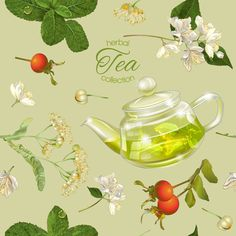 Herbal tea seamless pattern vector - https://www.welovesolo.com/herbal-tea-seamless-pattern-vector/?utm_source=PN&utm_medium=welovesolo59%40gmail.com&utm_campaign=SNAP%2Bfrom%2BWeLoveSoLo