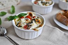 Caprese Baked Egg Cups  @How Sweet It Is