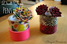 Duct Tape Rose Pen Tutorial