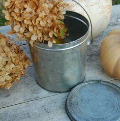 Darling Vintage Tin Cream Bucket Pail with by BlackEyedSusanShop, $12.00