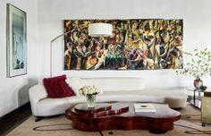 Modern Living Room by Nancy Heller in Los Angeles, California. Love the table.