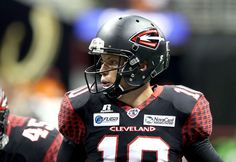 Cleveland Gladiators' Shane Austin calls a play against the Jacksonville Sharks in the second half Saturday, July 19, 2014, at Quicken Loans Arena. The Gladiators won the game 62-20, shutting out Jacksonville in the second half. (Joshua Gunter/The Plain Dealer)