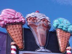 ice cream in neon