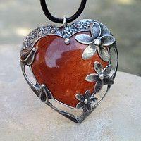 Bali Jewelry, Gems Jewelry, Heart Jewelry, Cute Jewelry, Pendant Jewelry, Silver Jewelry, Mixed Metal Jewelry, Metal Clay Jewelry, Wire Jewelry Patterns