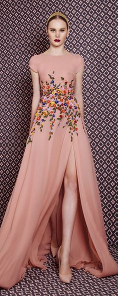 Georges Hobeika Autunno-Inverno 2016-2017 - Pret a porter. Pink Floral  DressFloral DressesMaxi ...