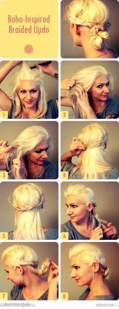DIY Hair Idea: Boho-Inspired Braided Updo   Latest-Hairstyles.com