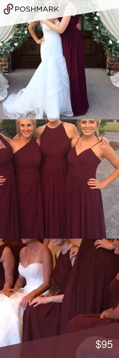 LOVEEEE these and the different styles Bill Levkoff Wine Bridesmaid Dress 1161 Style 1161 in wine.