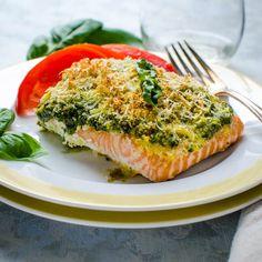 Baked Salmon Pesto | Garlic & Zest
