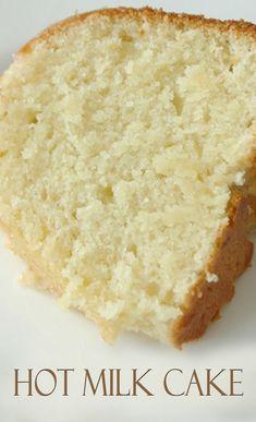 Hot Milk Cake Recipe