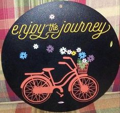 Enjoy the Journey Transfer. Bike is layered for for one to multi-color effects of your choosing! Lumbar Spinal Stenosis, Ink Link, Chalk Ideas, Color Effect, Decoration, Porch, Deck, Journey, Bike