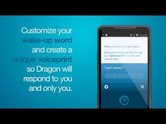 Create a unique voice print so your mobile assistant will respond only to you - Dragon Mobile Assistant - YouTube  http://youtu.be/kxga8I8C8_M?t=16s