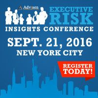 Advisen's 6th annual Executive Risk Conference will take place on Wednesday, September 21 at the Downtown Marriott in NYC. Don't forget to register!