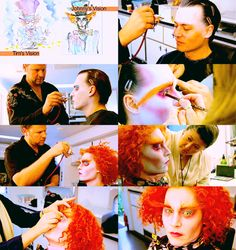 IMAGE 2 A step by step photo of the Mad Hatter process including wigs, make-up…