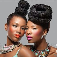 If I could rock make up like this!! (via African Fashion)