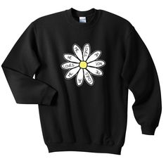 He Loves Me Daisy Flower Sweatshirt from teeshope.com This sweatshirt is Made To Order, one by one printed so we can control the quality.