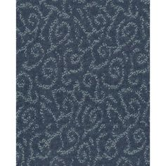 Shaw Cornerstone Trustworthy- Heron Blue 12-ft W x Cut-to-Length Heron Blue Pattern Interior Carpet