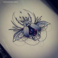What does beetle tattoo mean? We have beetle tattoo ideas, designs, symbolism and we explain the meaning behind the tattoo. Pretty Tattoos, Love Tattoos, Beautiful Tattoos, Body Art Tattoos, Tattoo Drawings, Tattoos For Women, Cat Tattoos, Ankle Tattoos, Arrow Tattoos