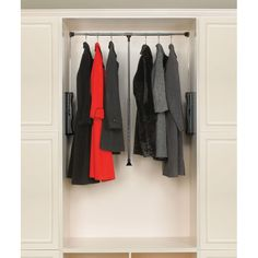 Ideal for handicap accessible applications. Rev-A-Shelf - - 35 in. Adjustable Pull-Down Closet Rod. Adjustable Pull-Down Closet Rod. Stack two units above one another for tall closet applications. Deep Closet, Closet Rod, Closet Shelves, Closet Storage, Master Closet, Master Bedroom, Closet Organization, Organization Ideas, Organizing