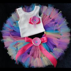 Over The Rainbow Tutu Baby Tutu Toddler Tutu by StrawberrieRose Kids Tutu, Toddler Tutu, Baby Tutu, Tutus For Girls, Girls Dresses, Birthday Girl Dress, Birthday Tutu, Birthday Dresses, Birthday Nails