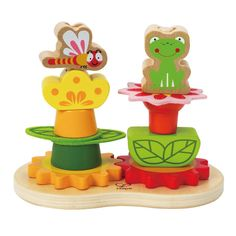 No matter how they stack, these easy-to-place shapes and textures grow into colorful flowers. Endless variations make this a perennial favorite. Imagination & Creativity Social Skills Self Discovery Fine Motor Skills Physical Skills Problem Solving Rack Bike, Hape Toys, Kids Toy Store, Early Explorers, Developmental Toys, Preschool Toys, Puzzle Toys, Wooden Garden, Toys Online
