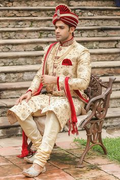 Exquisite All Over Embroidered Sherwani Img1