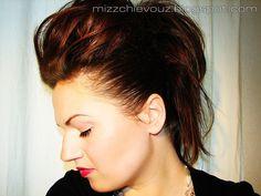 Hair tutorial  Ultimate Rocker hair tutorial.  How to do it at:   http://www.misschievous.tv/2009/04/fauxhawk-hair-ultimate-rocker-hair.html