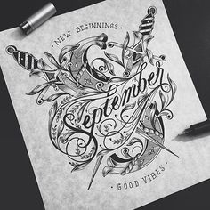 FOR TYPOGRAPHY LOVERS... - Beautiful Typography Sketches | Abduzeedo Design Inspiration