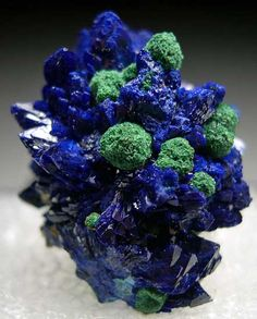 Azurite with Malachite from Nevada Lode, San Juan Co., Utah (Marin Mineral Company)