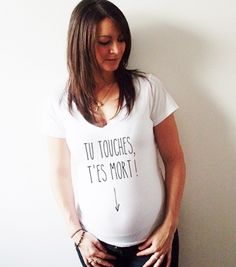 7d9fabc38b113 Tee shirt grossesse