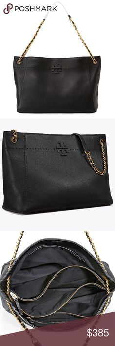 e7f242838eeb 👠NWT Tory Burch McGraw Slouchy Tote 100% Authentic