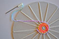 wheel weaving with kids - Google Search