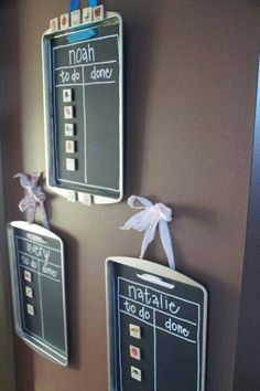 Chalk board pans