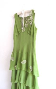 Spring in the air/ Eco Fashion Funky Dress/  Shabby by KheGreen, $55.00