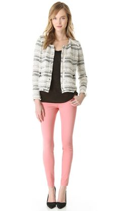 pink jeans and blazer
